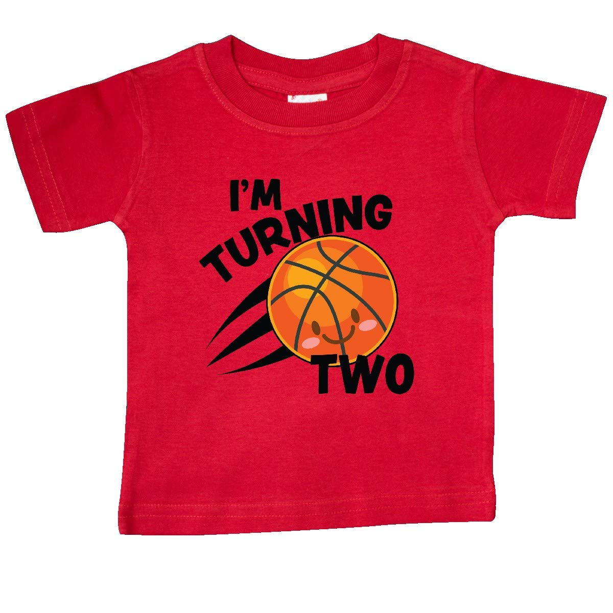 inktastic Im Turning 2 with Basketball Baby T-Shirt
