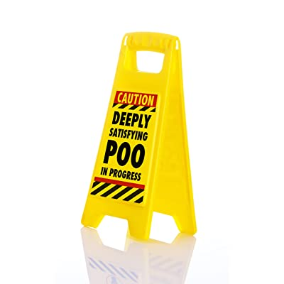 Boxer Gifts 'Deeply Satisfying Poo In Progress' Novelty Toilet Humour Warning Sign | Hilarious Secret Santa Gift For Him: Home & Kitchen