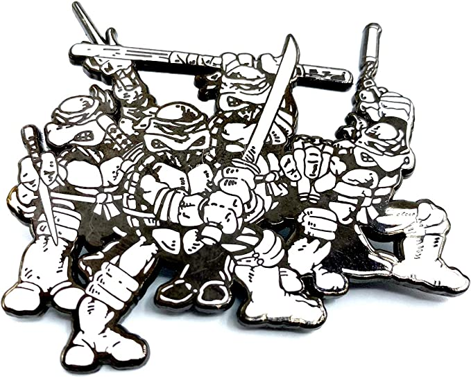 All Four Comic Brothers: Teenage Mutant Ninja Turtles Collectible Mega Pin