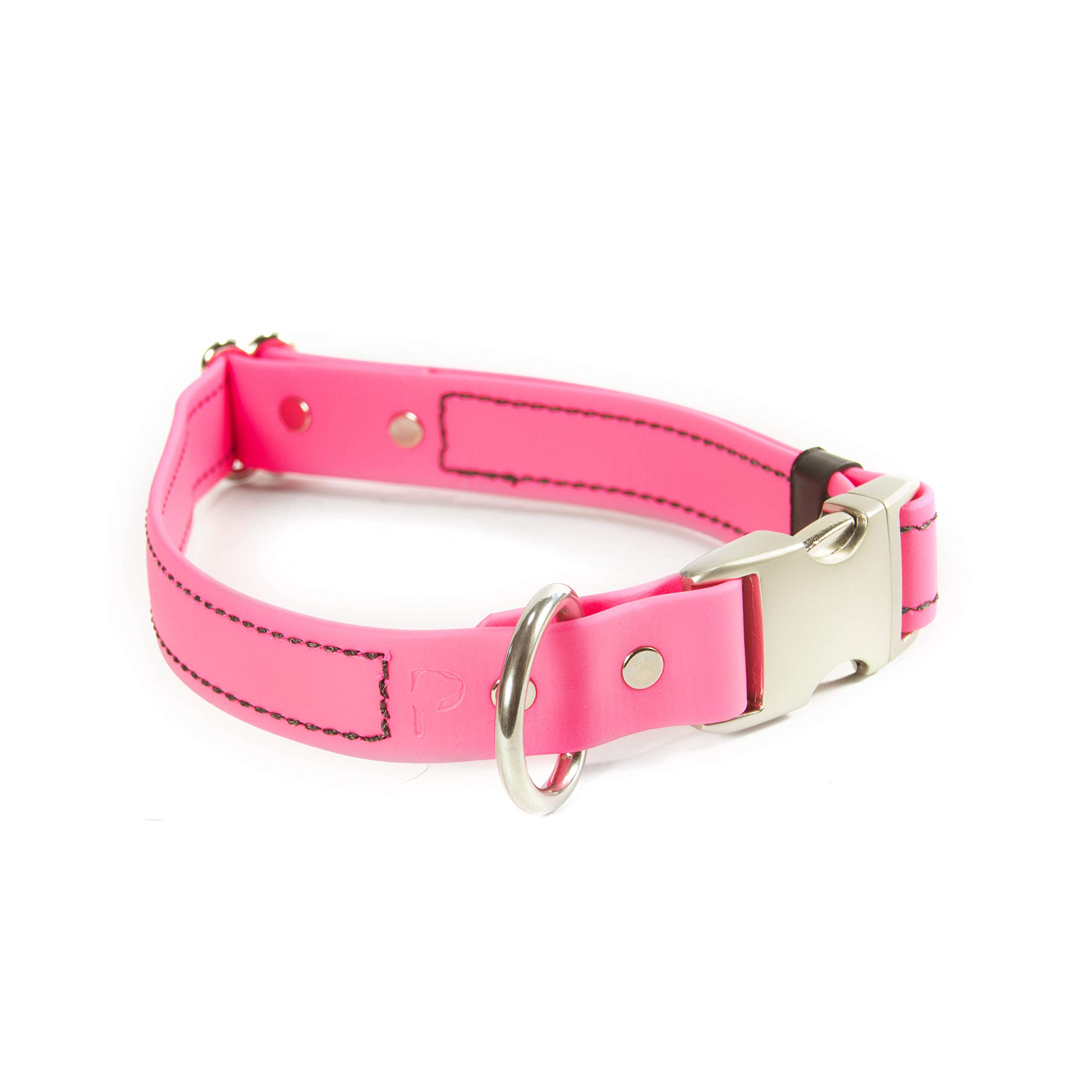PACKT Quick Release Waterproof Stinkproof Dog Collar, Pink-M