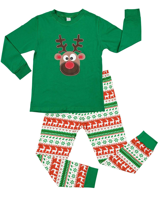 CharmLeaks Kids Cotton Pyjamas Sets Printed Long Sleeve Festival PJS Nightwear Sleepwear 1-7 Years
