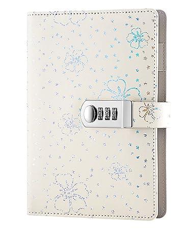 ai life pu leder zahlenschloss tagebuch schreiben notebook planer organizer a5 size210x145mm - Muster Passwort
