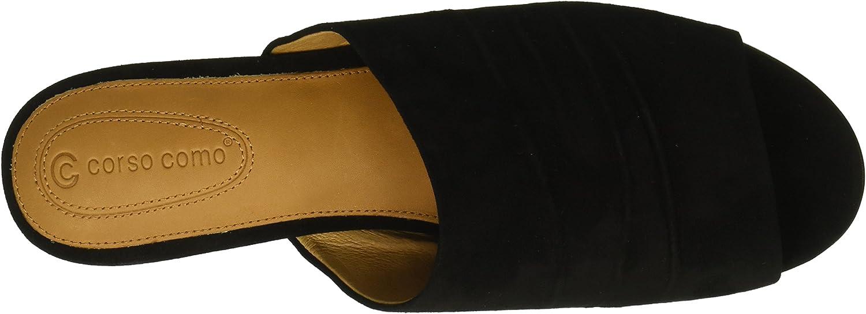 Corso Como Womens CC-BEACHAVEN Flat Sandal Black 9 Medium US
