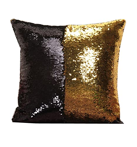 Amazon.com: Funda reversible estilo sirena para almohada de ...