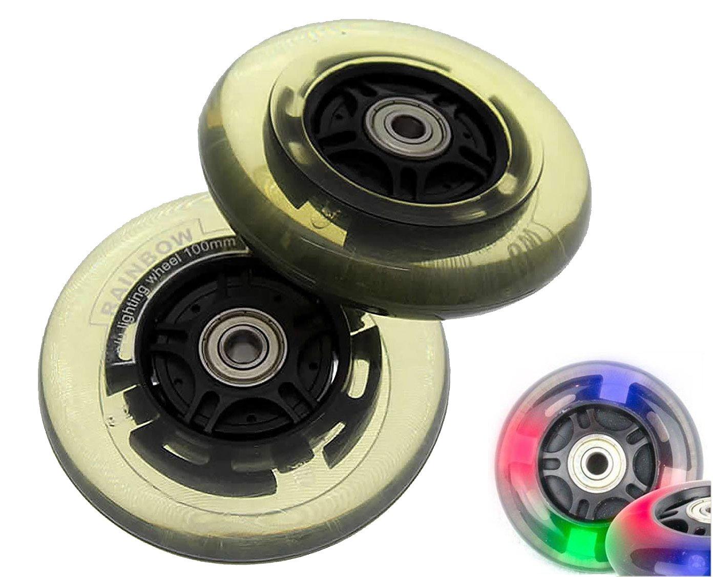 2 x P/U Bombilla de ruedas de repuesto ruedas Rueda Patinete ...