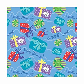 Amazon Com Printed Gift Wrap 30 Wide 5 Foot Roll Birthday Gifts