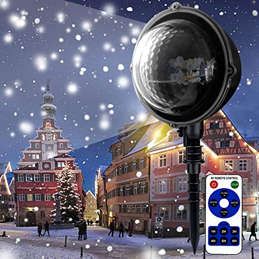 SZ&LAM Navidad De La Luz del Proyector LED Nieva Luces De La Noche ...