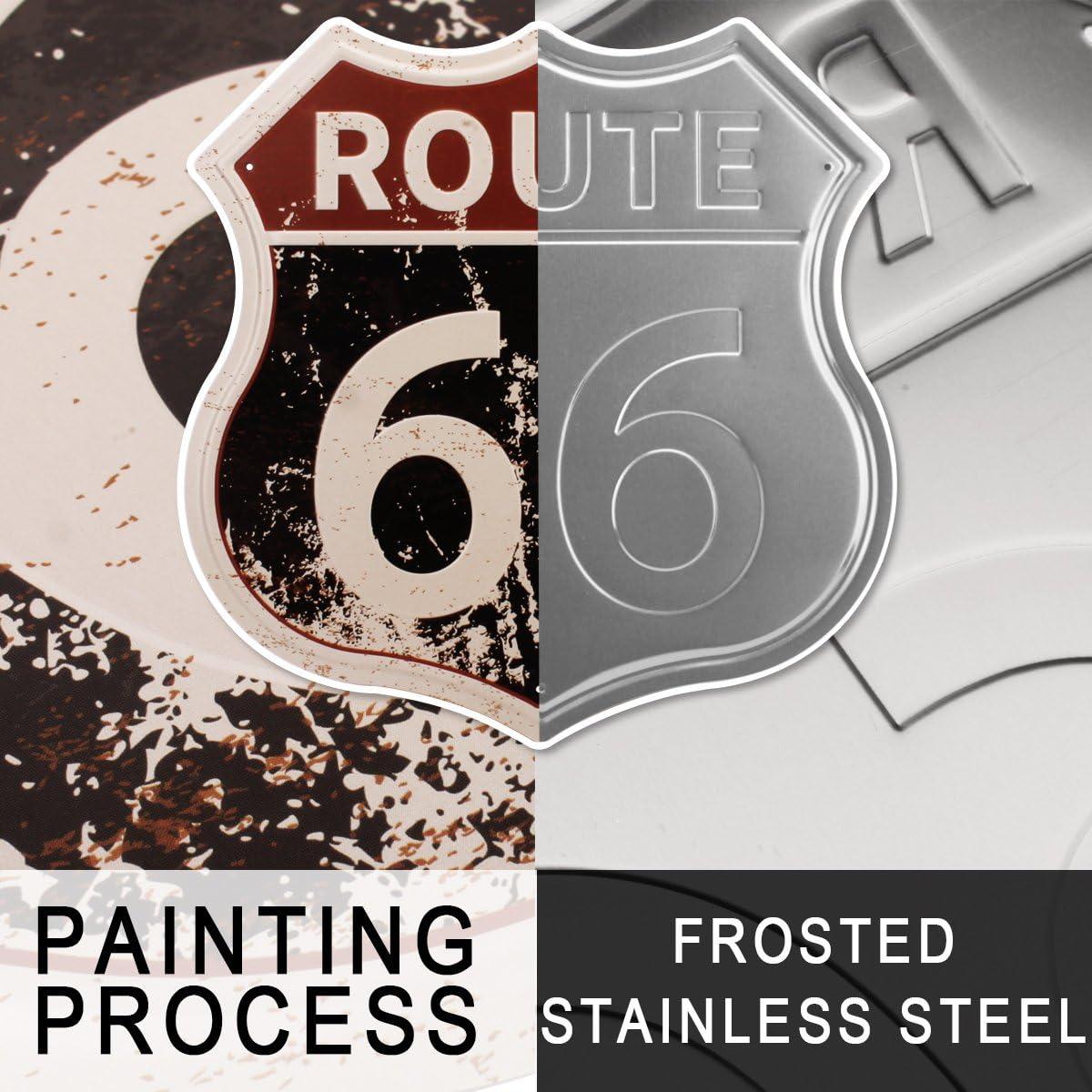 Amazon.com: HANTAJANSS Route 66 Signs Vintage Carteles para ...