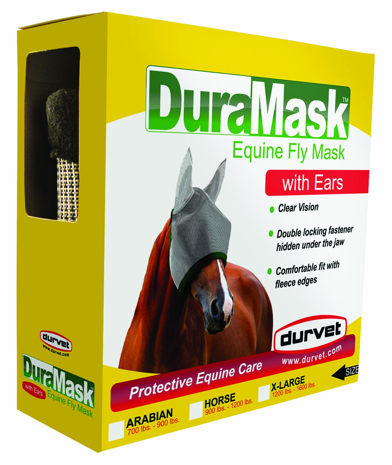 DURVET FLY D 698742 Duramask Fly Mask with Ears, X-Large