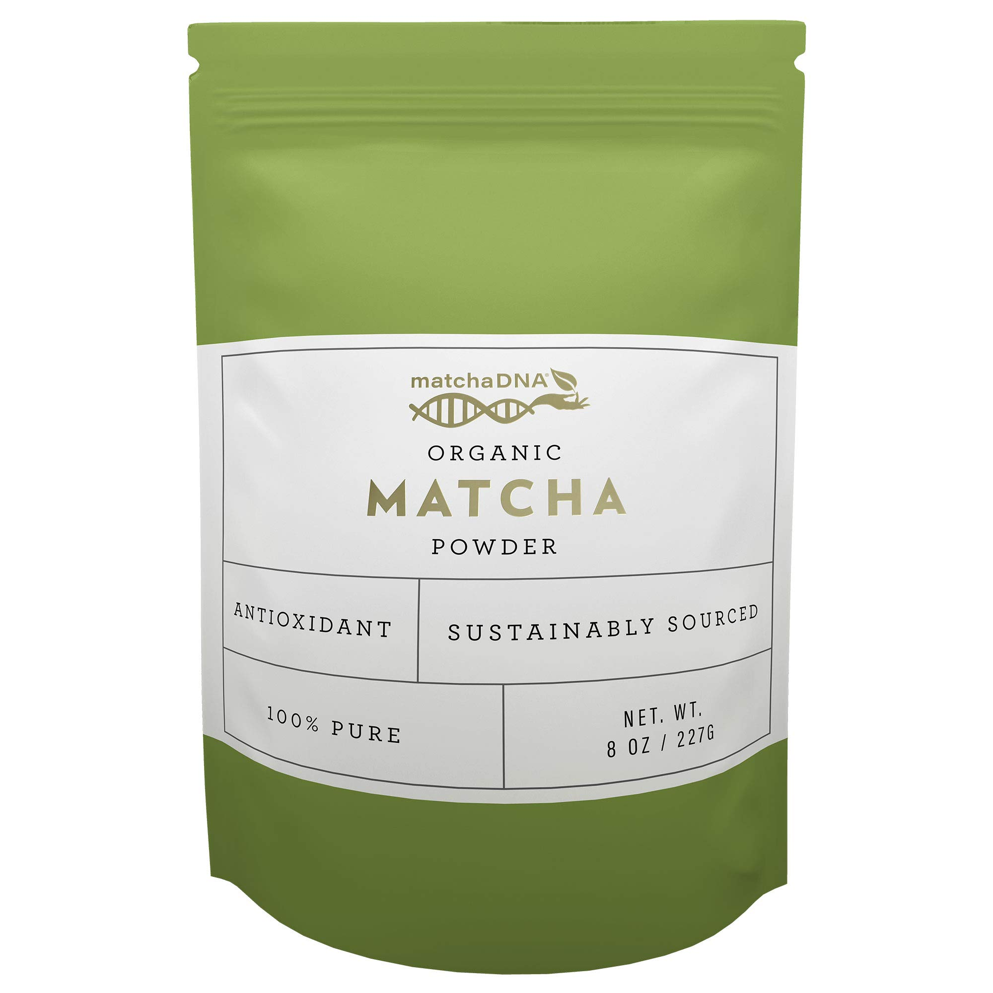 MatchaDNA USDA Organic Matcha Green Tea Powder Culinary Grade Powdered Matcha - High in antioxidants - 8 oz