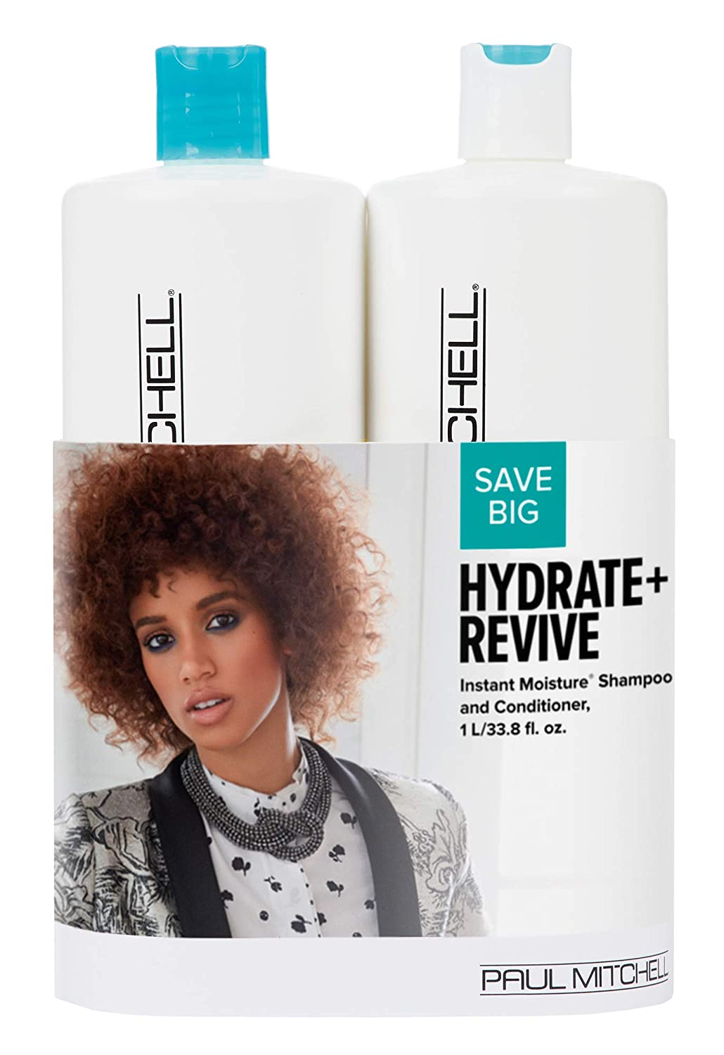 Paul Mitchell Hydrate + Revive Instant Moisture Liter Duo