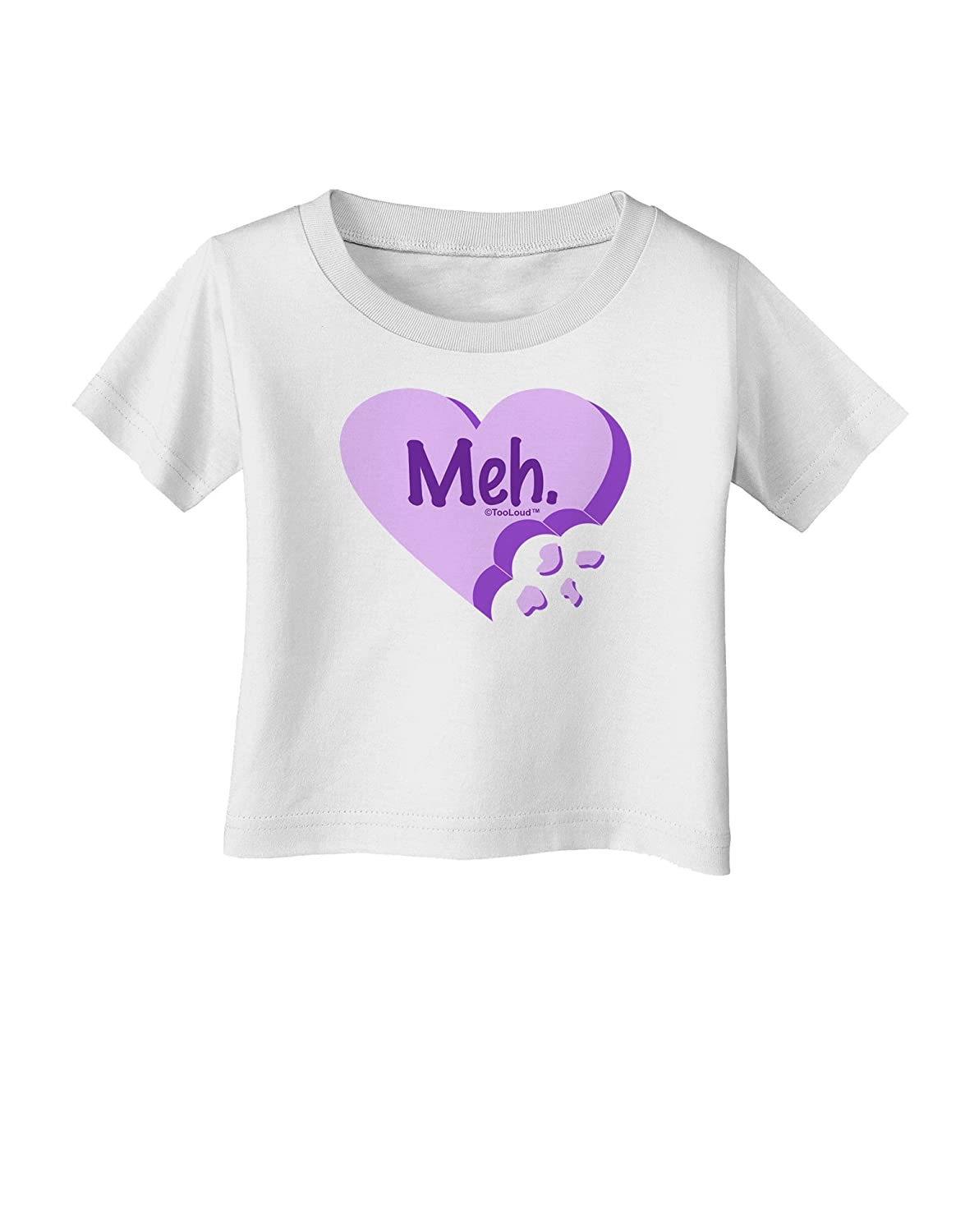 Valentines Day Infant T-Shirt TooLoud Meh Candy Heart Purple