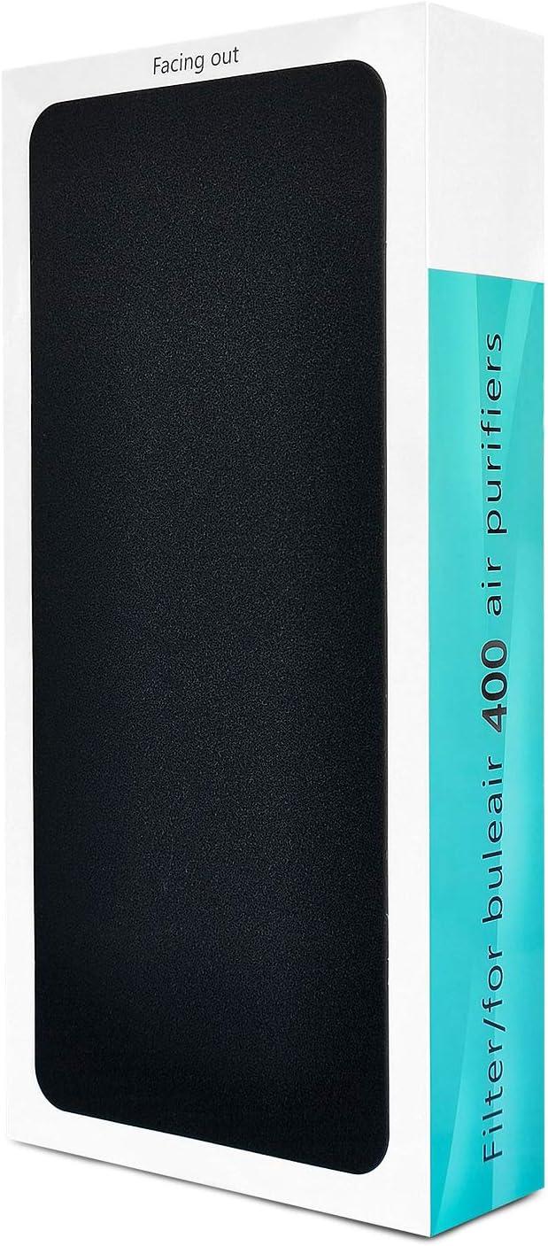 Blueair 400 Series - Filtro de sustitución HEPA con sistema de filtro de triple capa para purificación de aire eficiente