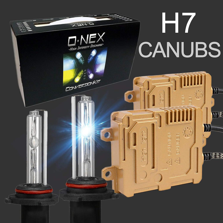 O-NEX H7 Canbus 55W AC Xenon HID Lights Assembly with Slim Digital Ballast 8000K Iceberg Blue