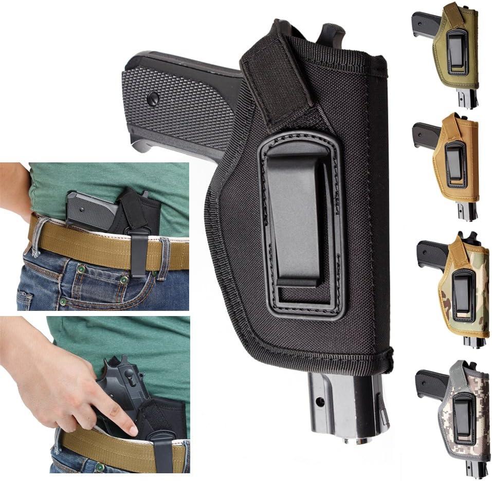 Gexgune Funda para la Pretina Interior de la Pistola IWB Funda Oculta para la Funda de la Pistola Glock 17 19 22 23 32 33 Funda de Nylon Ruger (5 Colores Opcionales)