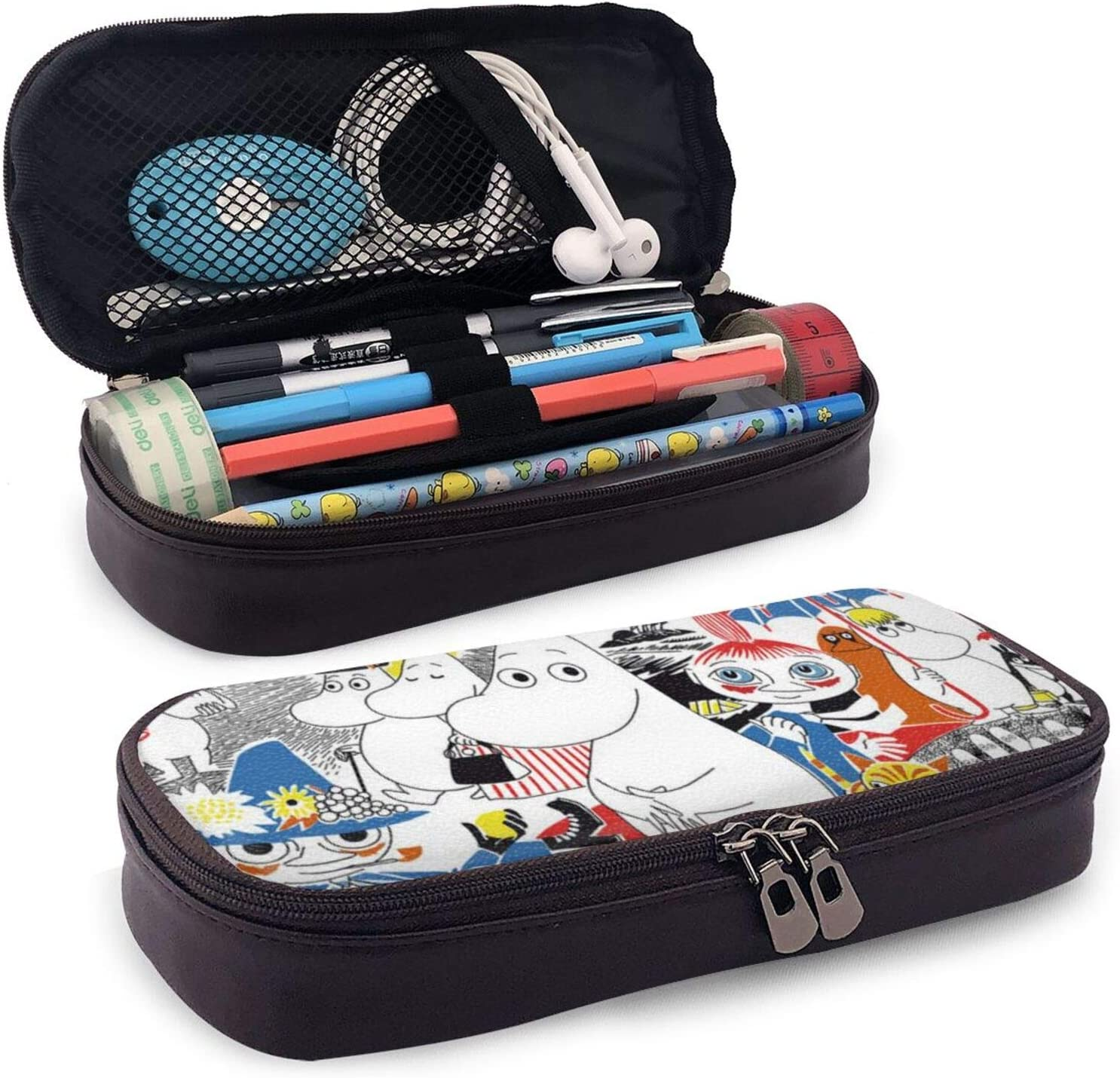 Moomin Pencil Pen Case Office College Large Storage High Bag Pouch Holder Box Organizer for Students Teens Adult