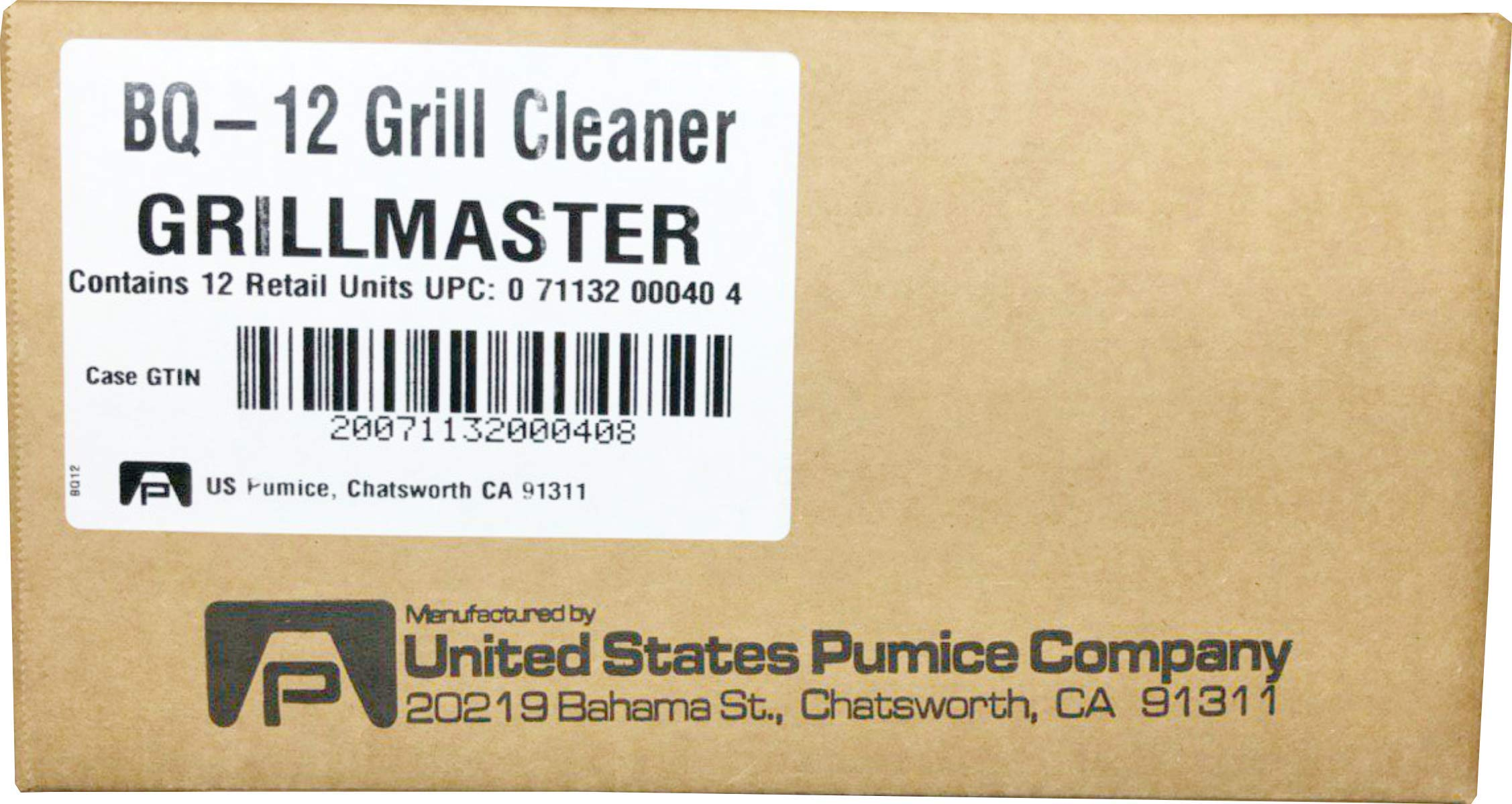 Grillmaster | BQ-12 | BBQ Cleaner Pumice Stone | Case of 12 | GrillBrick for Grill Cleaning | Medium Size | 5.75x2.75x2.75 inches (12) by GRILLMASTER (Image #7)