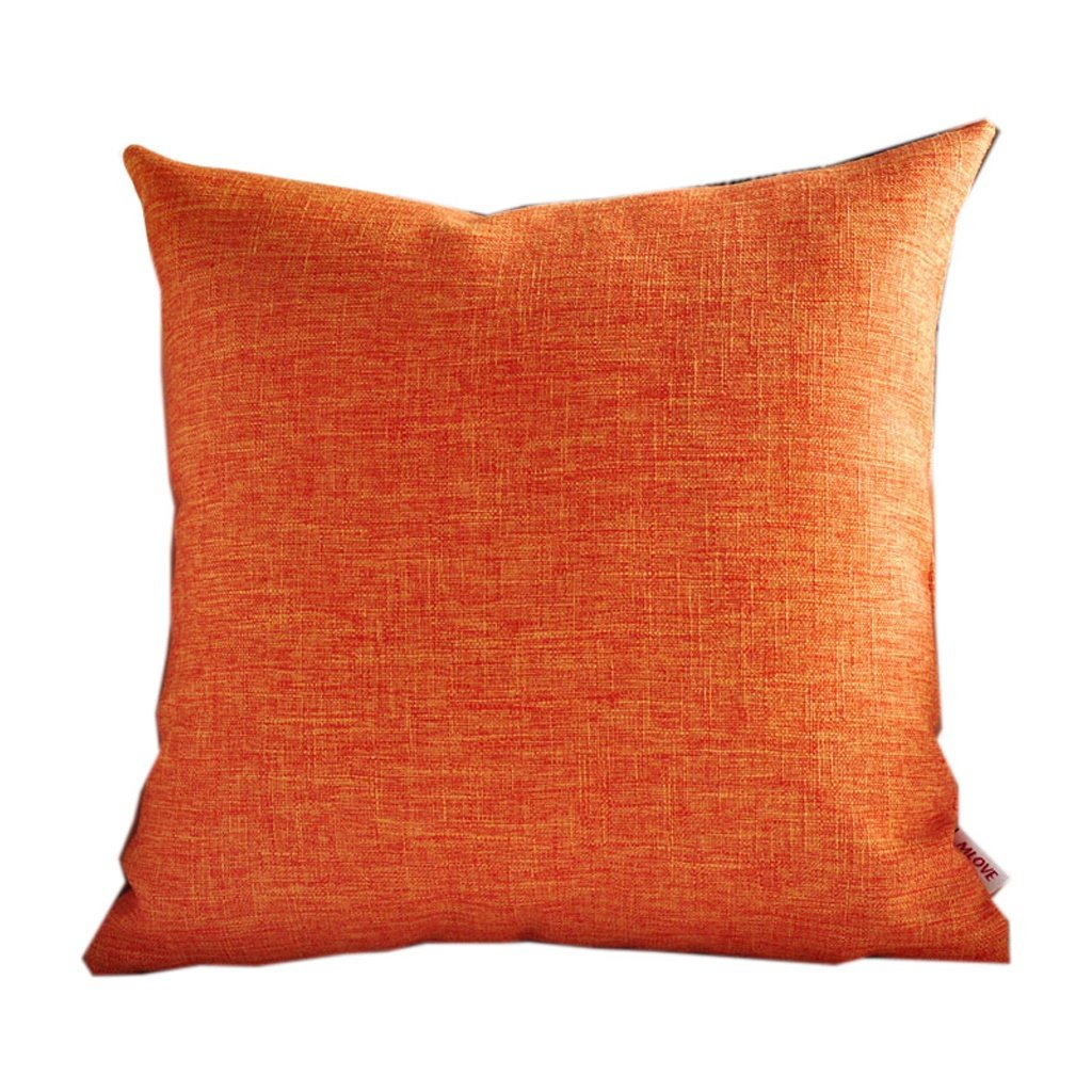 Cuscino a Triangolo- I Moderni Semplice Arancione Lavabile Divano Pure Il colore Copertura del Panno di Lino di Lavoro a Maglia di Diverso Formato per la Vostra Scelta