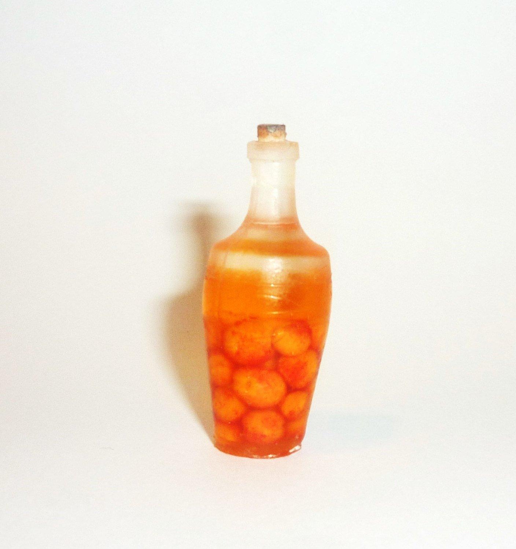 rustic style,apple juice,cherry juice Dollhouse miniature 1:12 apricot juice peach juice,Prune Juice Bottles with juice