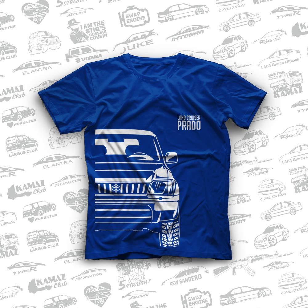 1299d1c9ad6c Amazon.com: Toyota Land Cruiser Prado 90 Prado 95 Original T-Shirts 100%  Cotton Free Shipping: Handmade