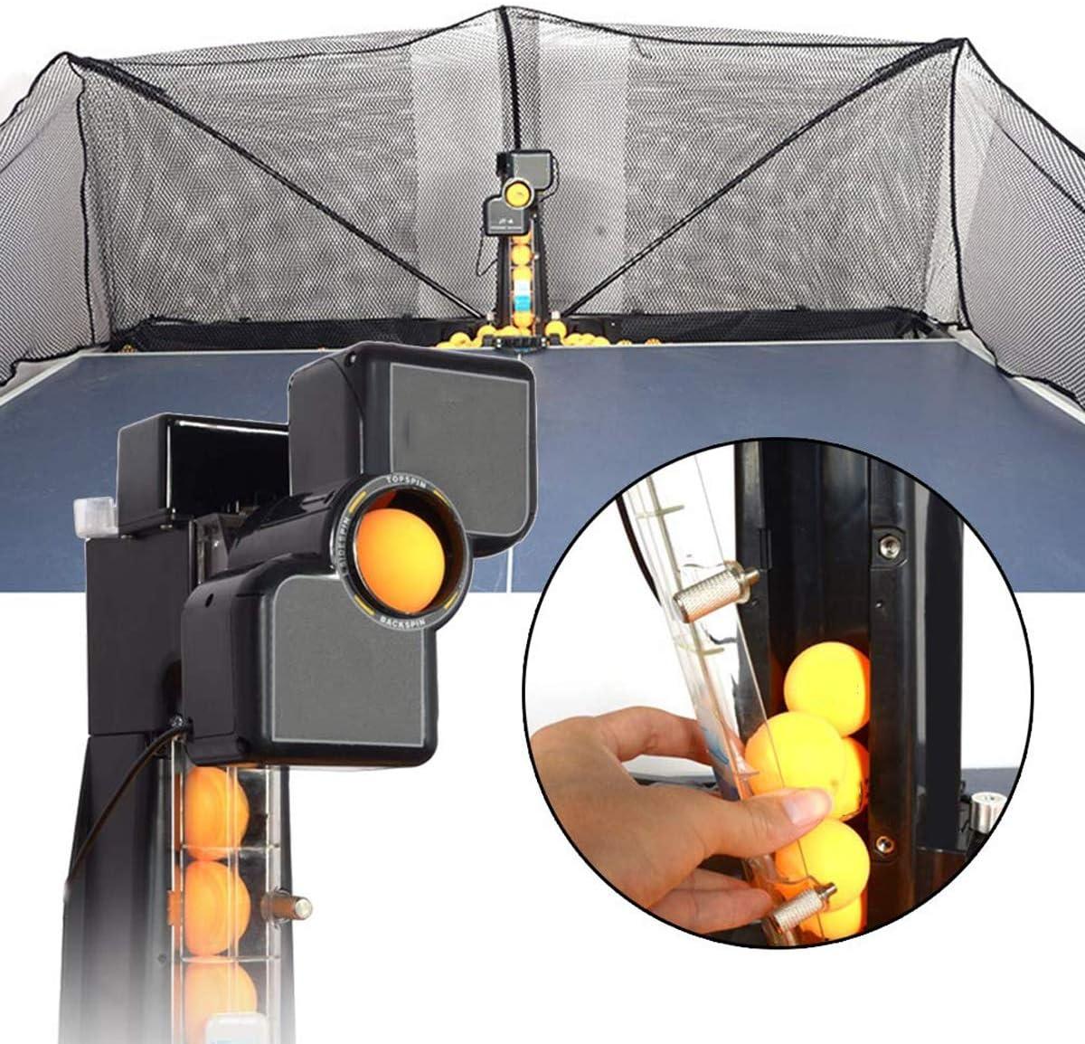 LiChenYao Ping-Pong De La Máquina Robot con Catch Net, Mesa Automática De Ping Pong Mesa De Ping Pong Trainer Robots Máquina De Bolas For Spin Instalación Training Ball-Fácil
