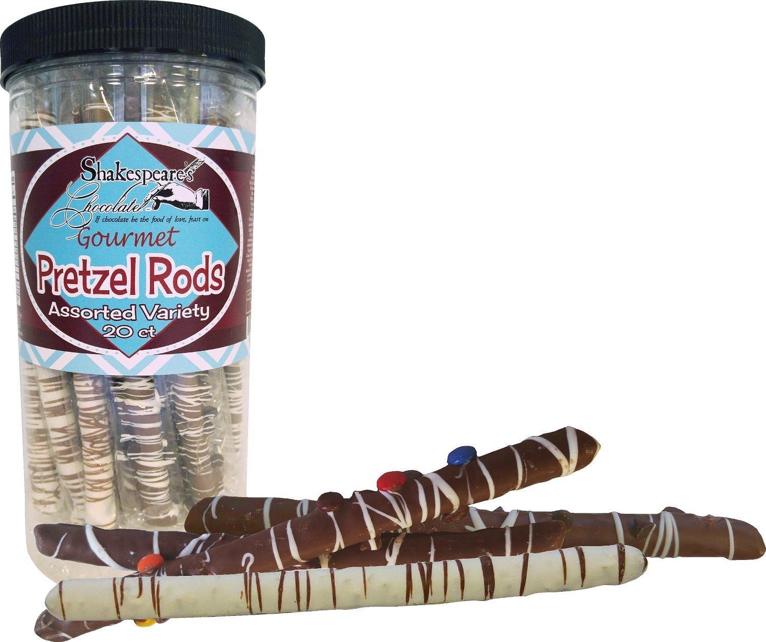 Amazon.com: Shakespeare\'s Chocolate Assorted Pretzel Rods - 20 count