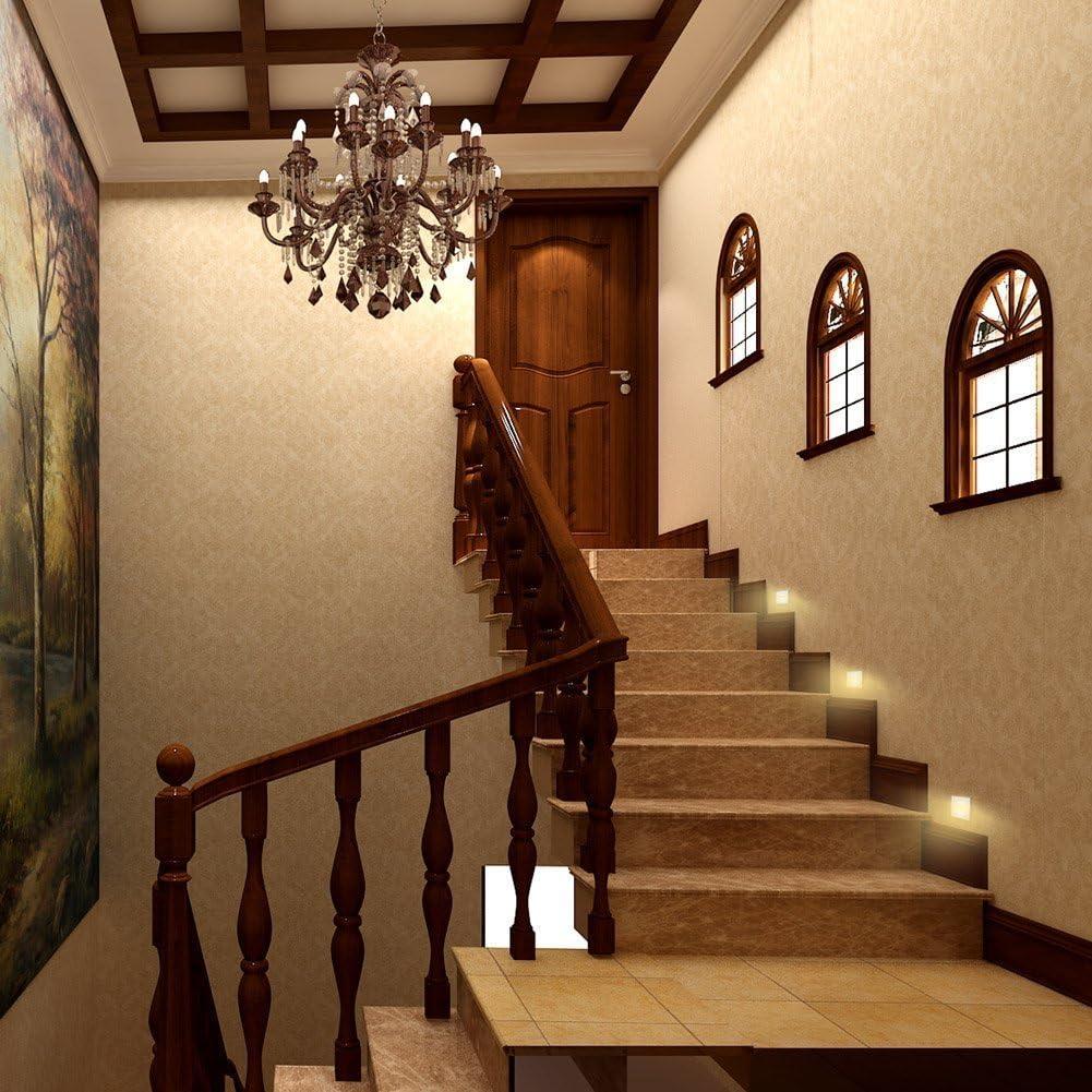 Topmo-plus conjunto de 4 LED luz del piso 3W Lámpara de vestíbulo Escalera al aire libre Iluminación de caminos luz hacia abajo Exterior Interior Jardín impermeable IP65 6 x 6 x 4,6