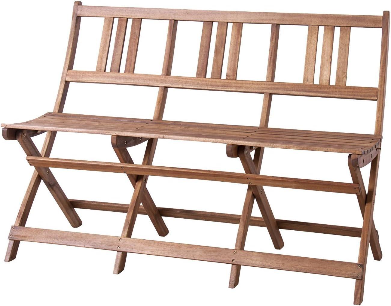 折りたたみ ベンチ 椅子 いす チェアー チェア 天然木 木製 ベランダ テラス ガーデン 庭 バルコニー 折り畳み 折畳み (3人掛け)