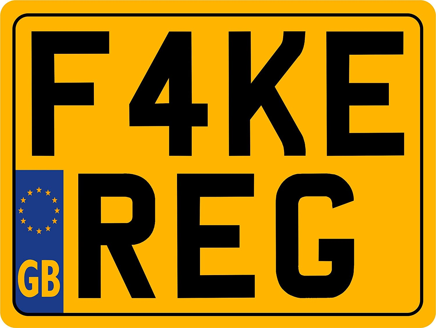 not road legal 8 X 6 REAR CLASSIC NUMBER PLATE 8 x 6 for Motorcycle SHOW PLATES with or with out border /& free bottom line text choice of sizes 9 x 3 // 8 x 6 // 7 x 4 // 7 x 5 // 6 x 5 // 6 x 4 also custom sizes