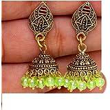 Fashion Bollywood Antique Partywear Jhumki Earrings For Women / AZINOXE21