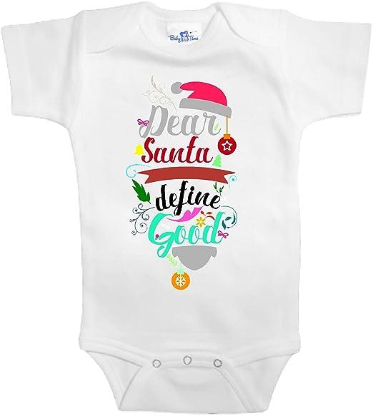 bcc3c35e6 Amazon.com  Baby Tee Time Dear Santa Define Good One Piece  Clothing