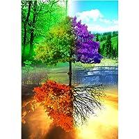 Hunpta 5D paesaggio dipinti ricamo multicolore strass incollato DIY Diamond Painting