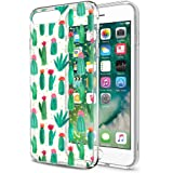 Eouine Funda iPhone 8, Funda iPhone 7, Cárcasa Silicona 3D Transparente con Dibujos Diseño [Antigolpes] Suave Gel TPU Case Cover de Protector Fundas Movil para Apple iPhone 7/8-4,7 Pulgada (Cactus)