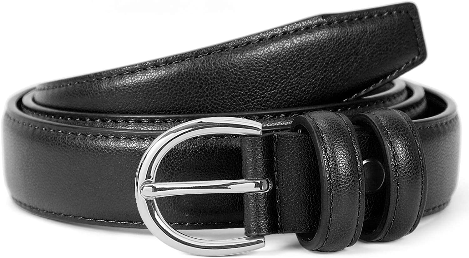 Belts Solid Simple Leather...