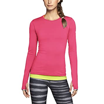 5811e4fa22b88 Camiseta de entrenamiento Nike Pro Hyperwarm Crew 3.0 para mujer-Hyper  Pink-XS  Amazon.es  Deportes y aire libre