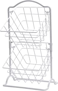 Gourmet Basics by Mikasa General Store 2 Tier Hanging Basket, White