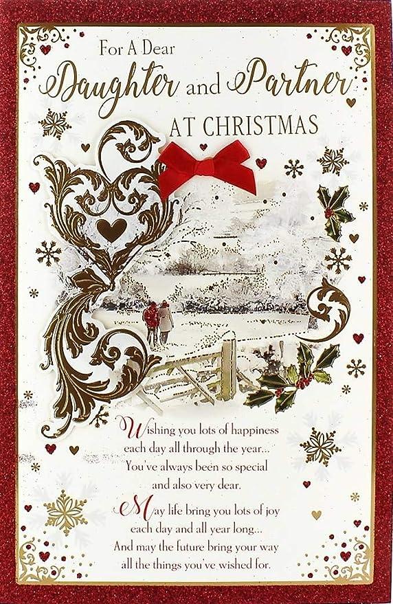 Cards Galore Online Tarjeta de Navidad para Hija y Pareja ...