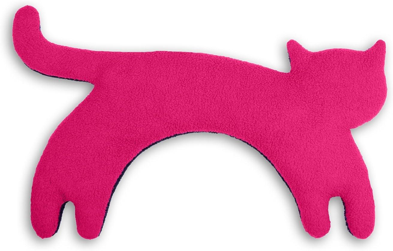 Leschi | Almohadilla de calor (para las cervicales y los hombros) | 36528 | La gata Minina | de pie | grande | Color: Flamenco/Medianoche