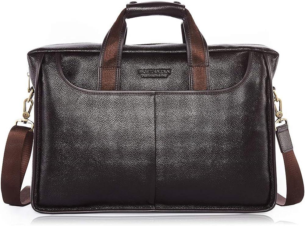 BOSTANTEN Leather Briefcase Handbag Messenger Business Bags for Men