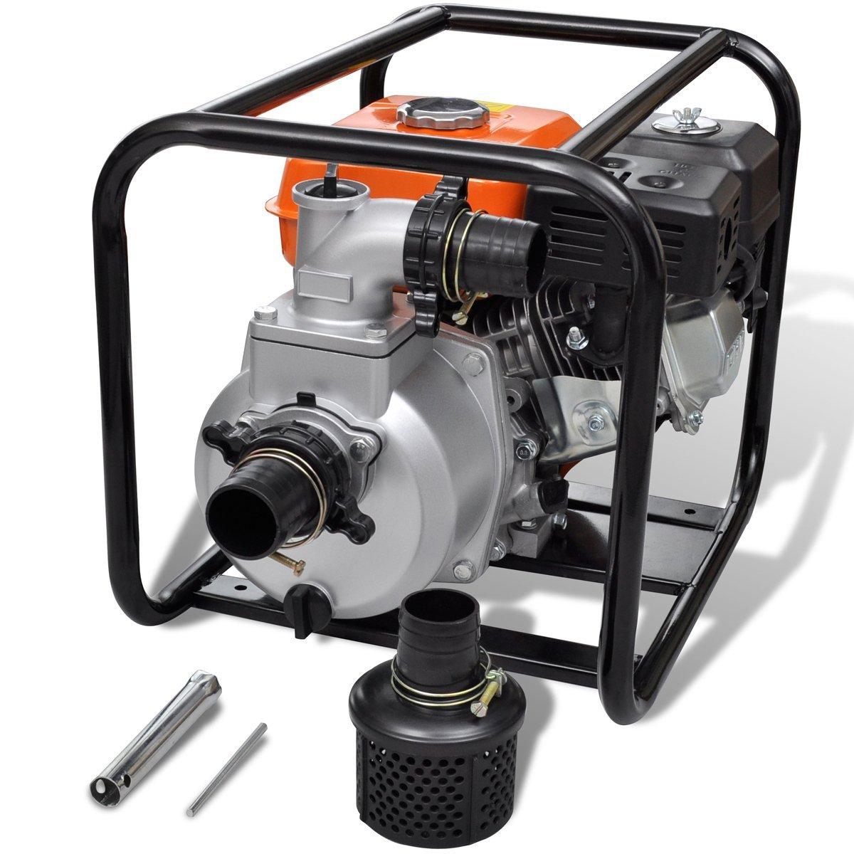 vidaXL Petrol Engine Water Pump 80mm Connection 6.5HP Irrigation Application