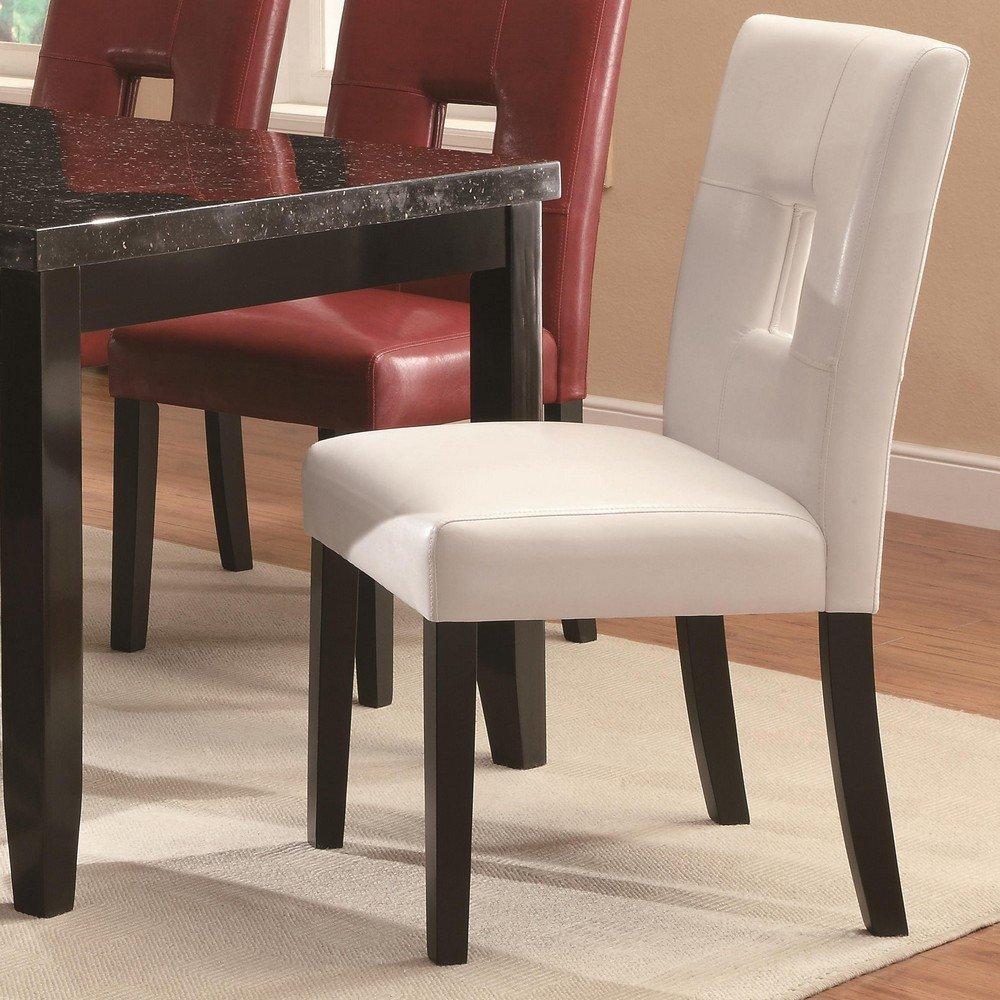 Amazon.com - Coaster Home Furnishings Newbridge Upholstered Dining Chairs  White (Set of 2) - Chairs
