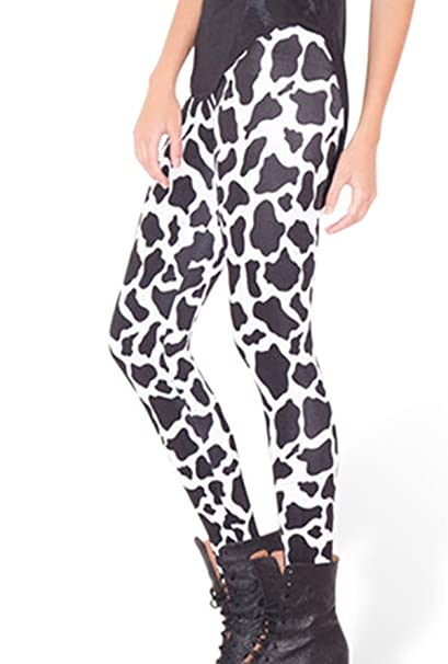 430e1daf8f67c Womens Sexy Cows Printed Pattern Spandex Tight Leggings Pants at ...