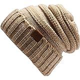 Oversized Winter Warm Trendy Slouchy Chunky Knit Beanie Hat Women