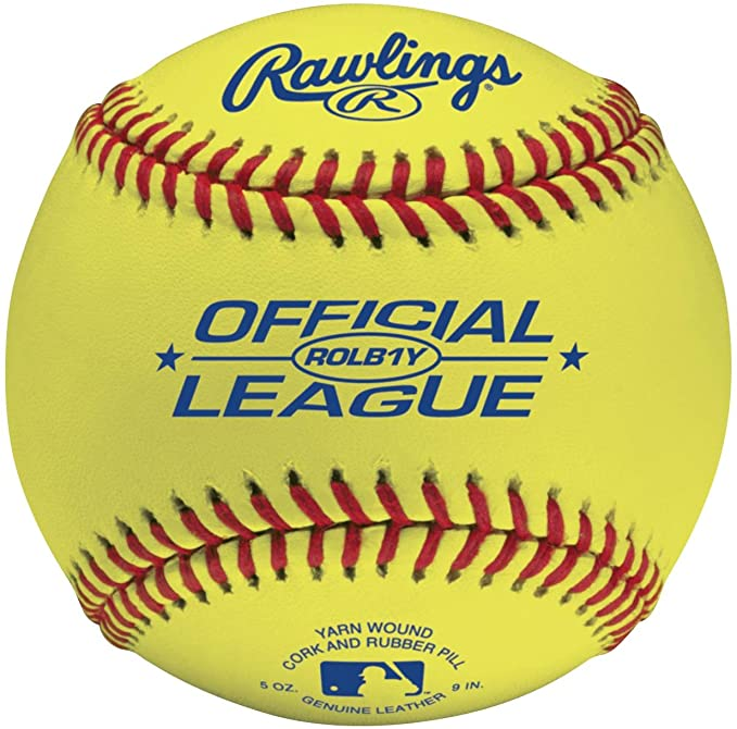 Rawlings Bola de beisebol para treino de amarelo óptico, 12 unidades, ROLB1