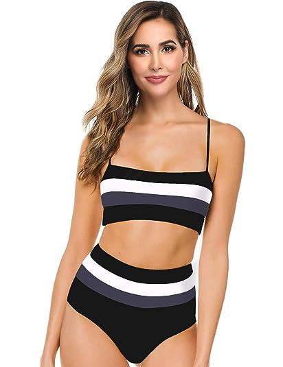 Amazon.com: Hotvivid traje de baño de dos piezas para mujer ...