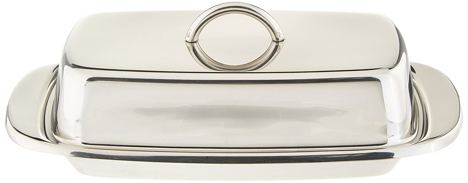 Norpro Stainless Steel Double Covered Butter Dish 282
