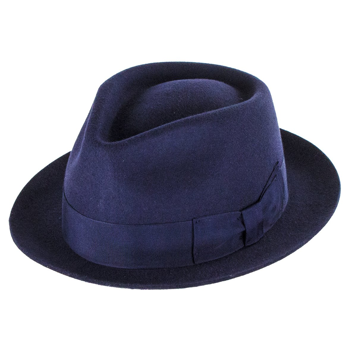 Dentons Hats Manhattan Wool Felt Trilby - Navy