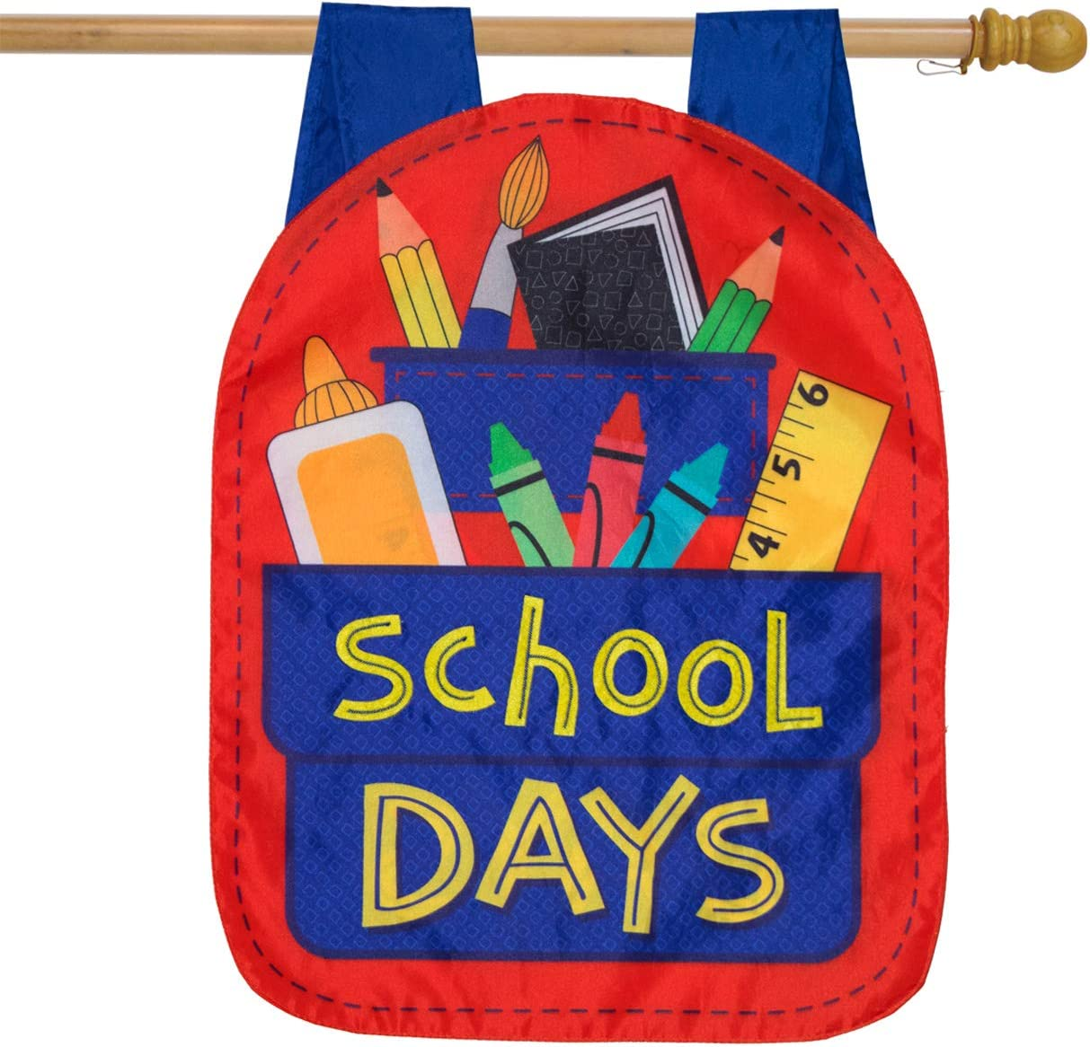 "Briarwood Lane School Days Fall Applique House Flag Back to School 28"" x 40"""