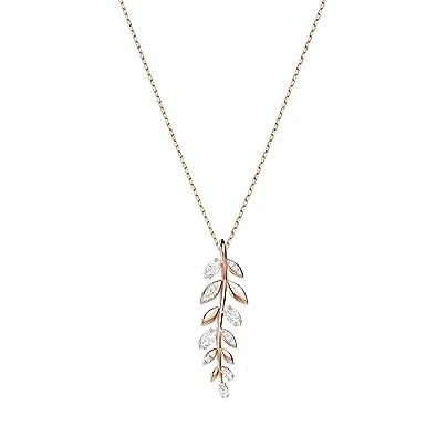 7f08461047676 Swarovski Mayfly Pendant, White, Rose Gold Plating  Amazon.co.uk ...