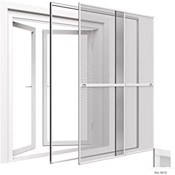 Mosquitera para puerta corredera doble, 230 x 240 cm, ajustable ...